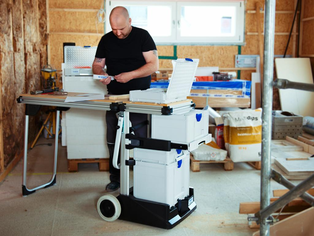 The systainer® is a great choice for the construction site as well. An organized system makes your work easier, and makes a good impression with your customers. The systainer® stands out with maximum stability and an even lower overall weight. You don't have to carry as much, but you can always rely on your case system.